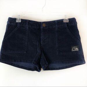 Quicksilver women's blue corduroy shorts size 9